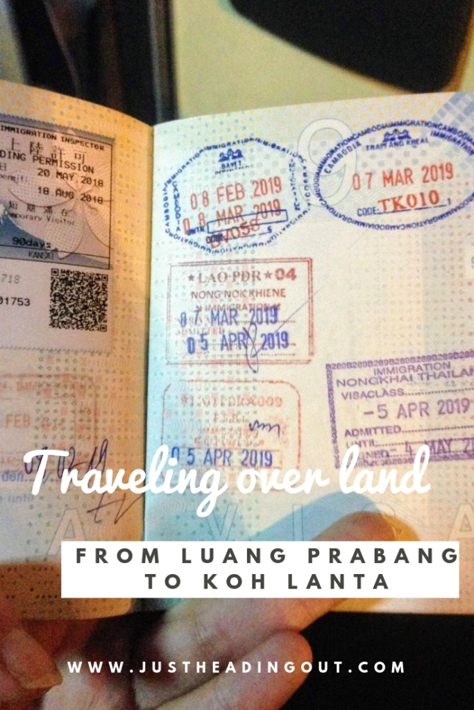 Luang Prabang Koh Lanta night bus Asia Bangkok passport over land travel