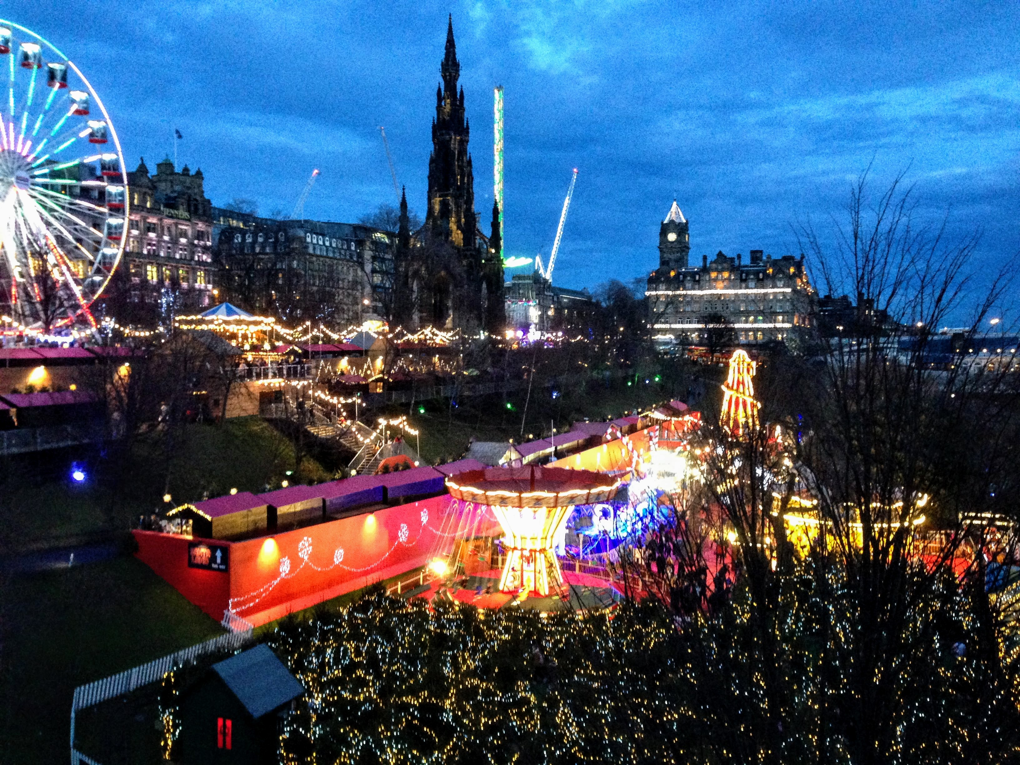 christmas market Europe festive destination travel guide holidays December travel Edinburgh Scotland