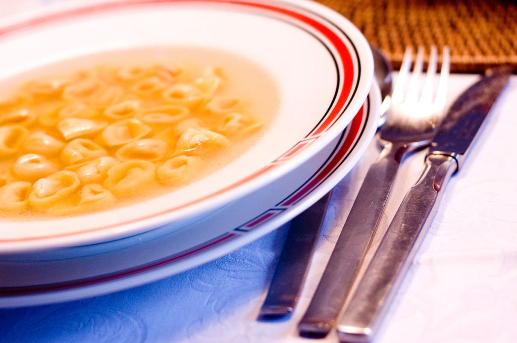 Italian cuisine food guide Emilia Romagna Bologna tortellini in brodo