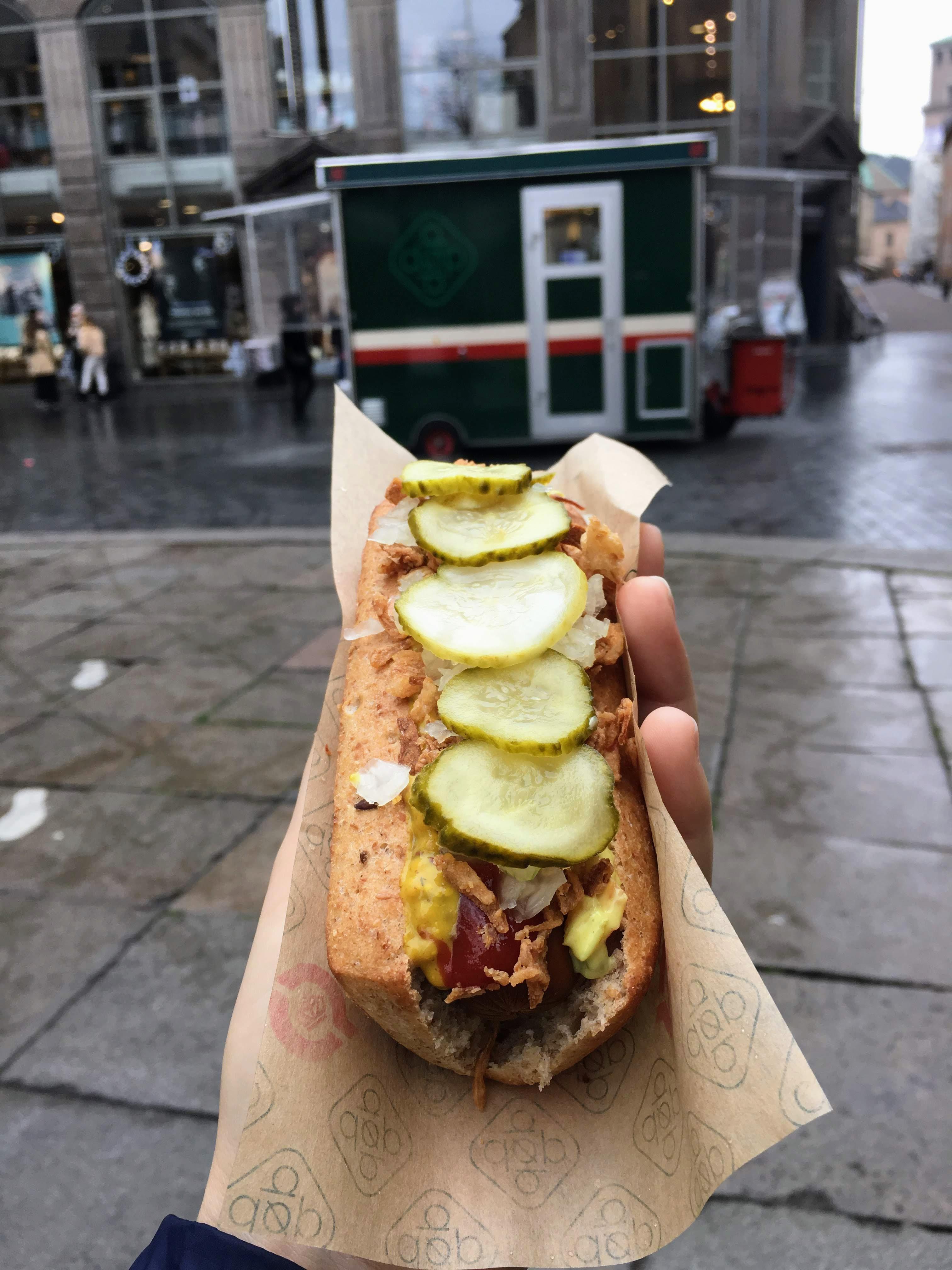 Denmark Copenhagen Old Town city guide travel guide vegan hot dog dop