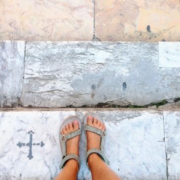 Venice Italy Teva Original sandals church steps