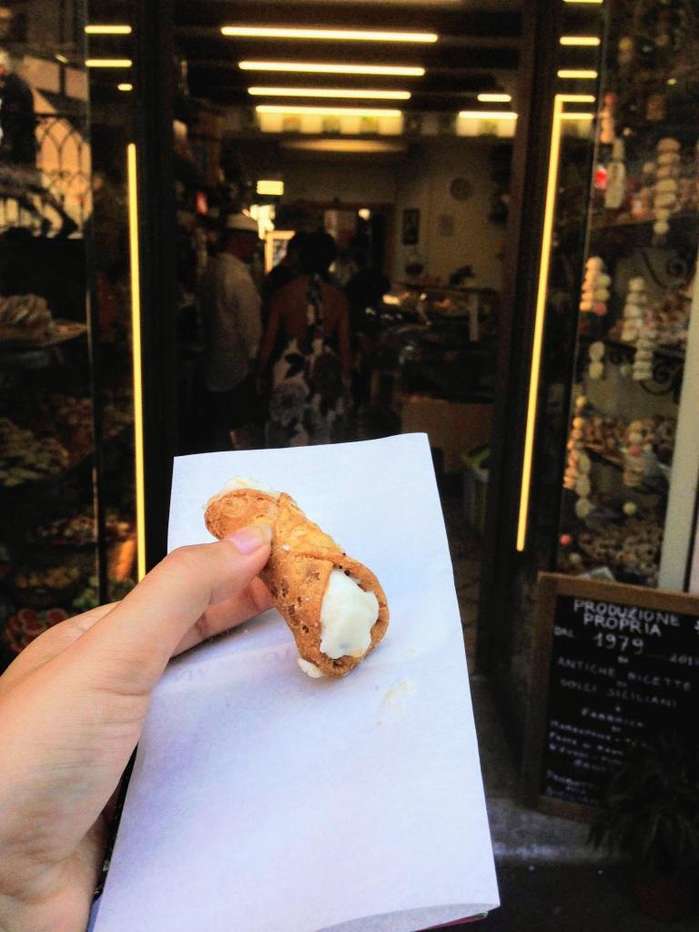 canoli Taormina Sicily sicilian food Italy cuisine travel tips food tips