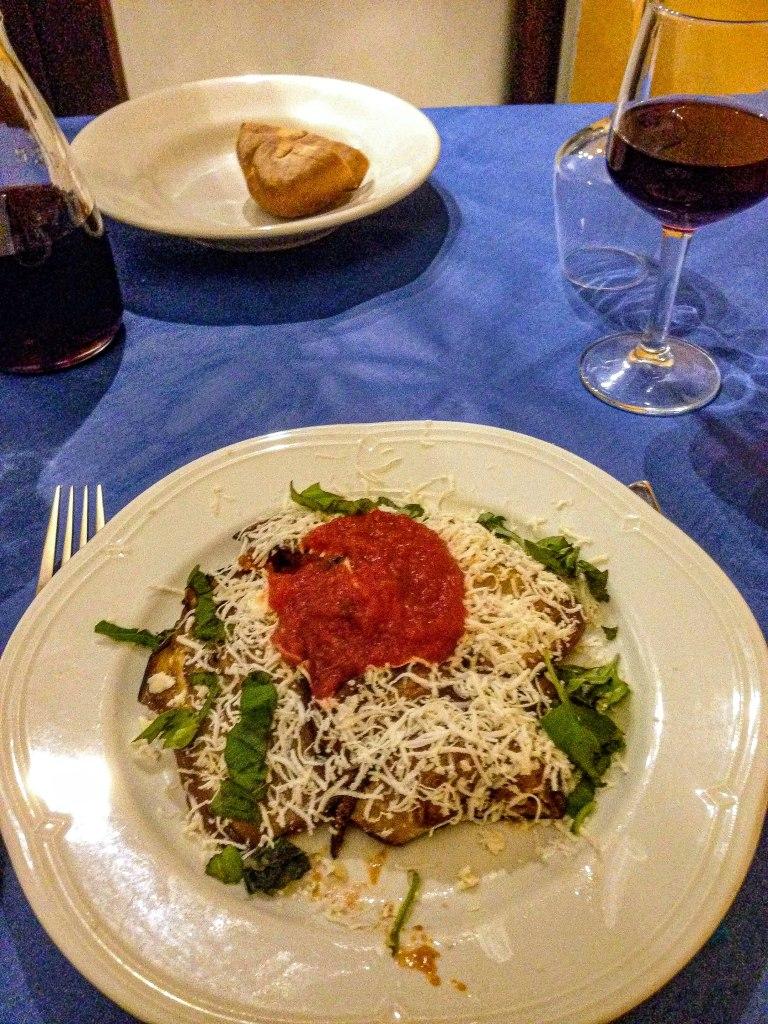 pasta alla norma trattoria del forestiero Sicily sicilian food Italy cuisine travel tips food tips