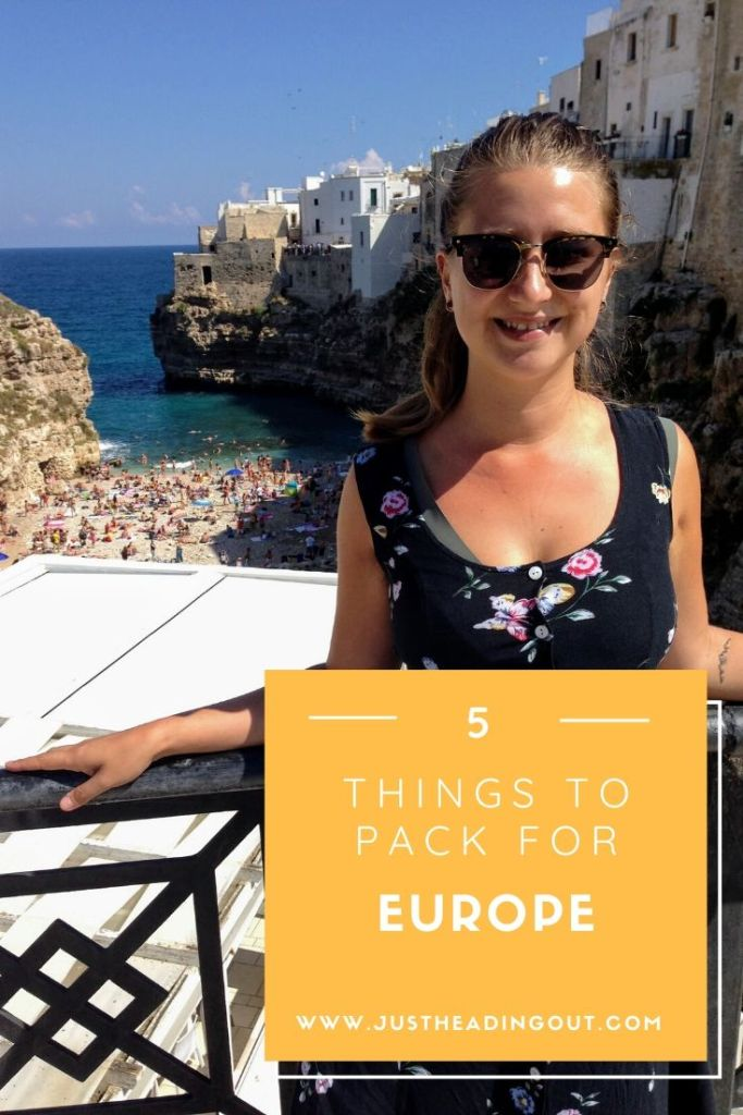Europe travel packing list carry on female traveler backpacking