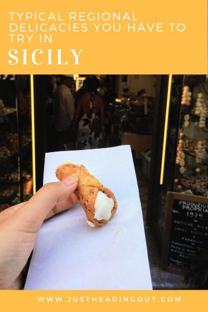 Sicily food guide Italian food Italy travel tips food tips things to eat toarmina canoli