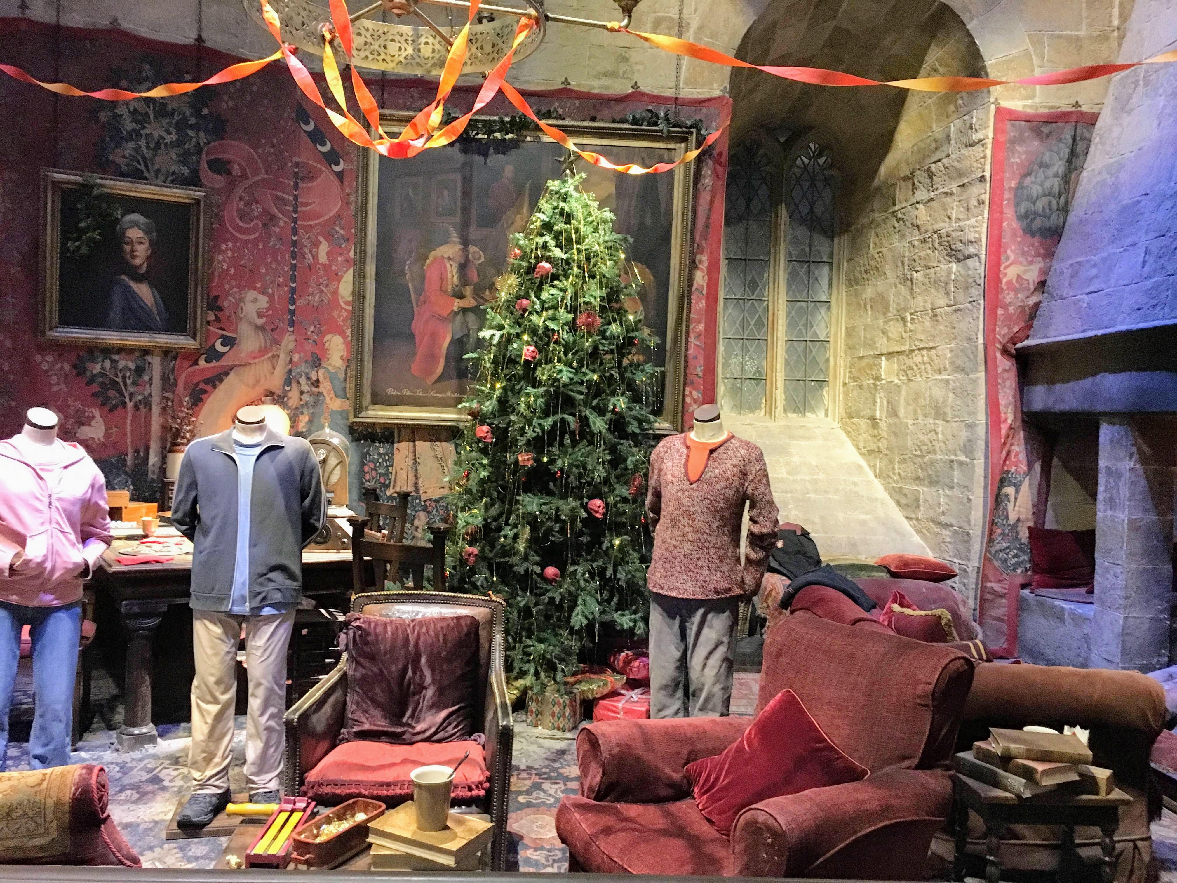 Harry Potter Studio Tour London Warner Bros Gryffindor Common Room movie set