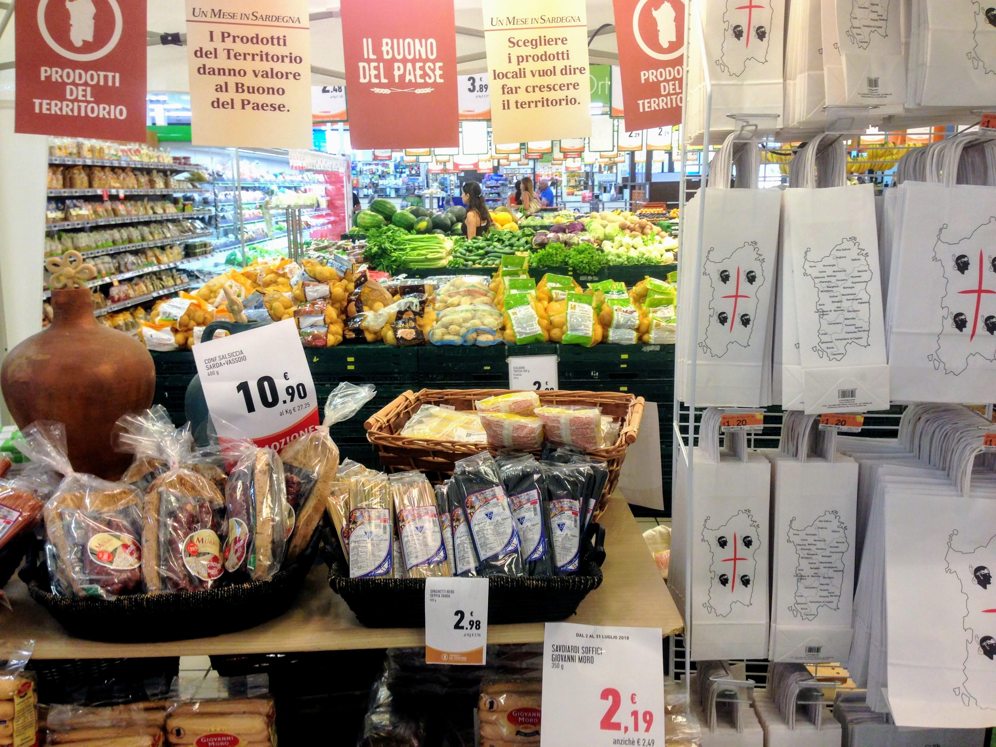 Sardinia Italy supermarket local food solo trip guide