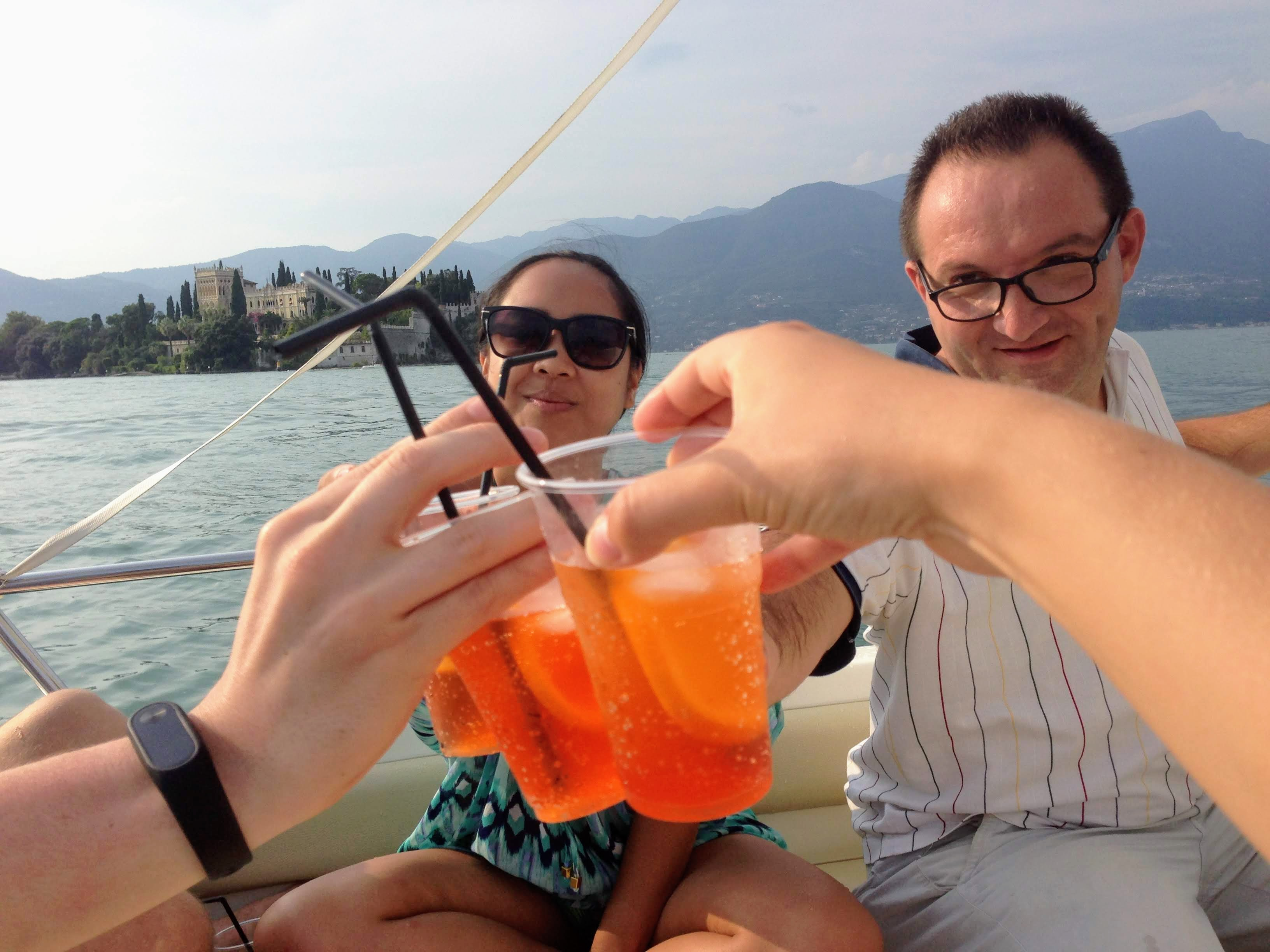 Italy Garda Lake aperol spritz boat tour