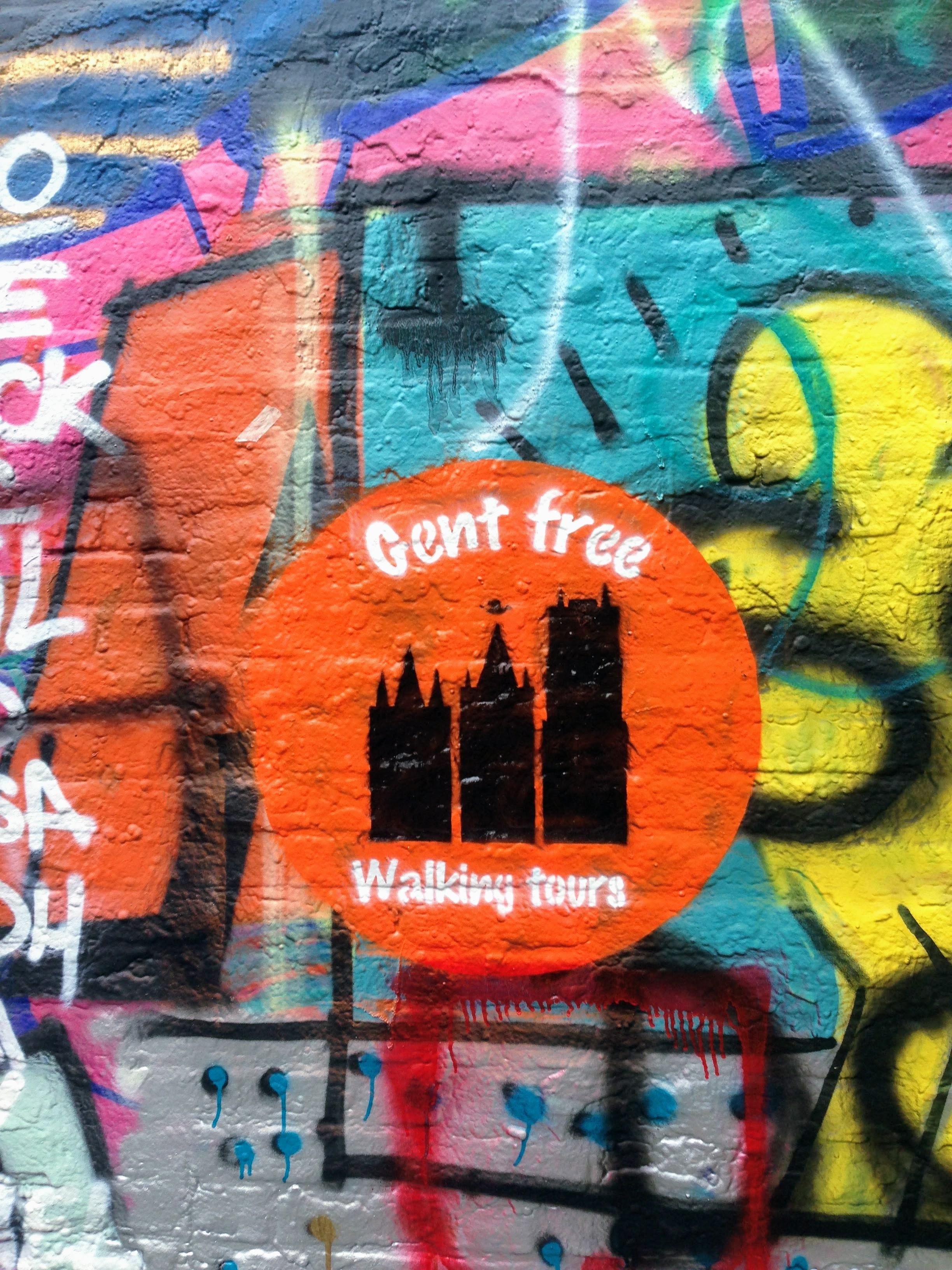 Gent Belgium Ghent Free Walking Tour mural street art off the beaten path solo travel unique t