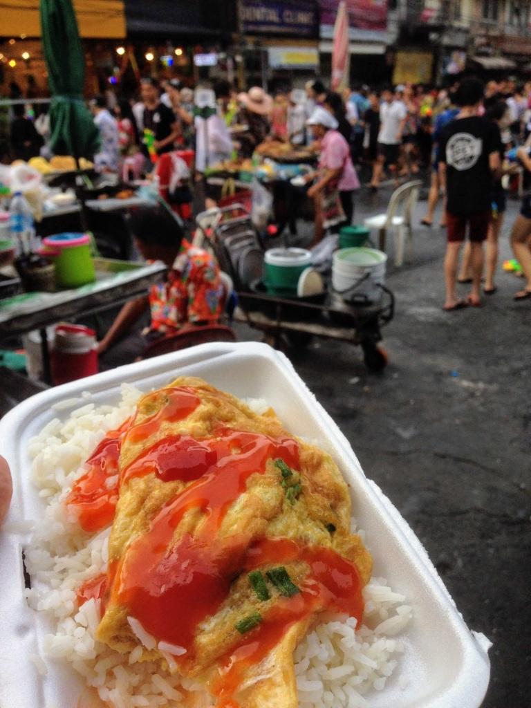 Bangkok Thailand street food omelet