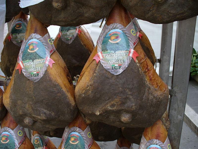 Prosciutto di Norcia Umbria Italy cuisine food guide Norcia ham