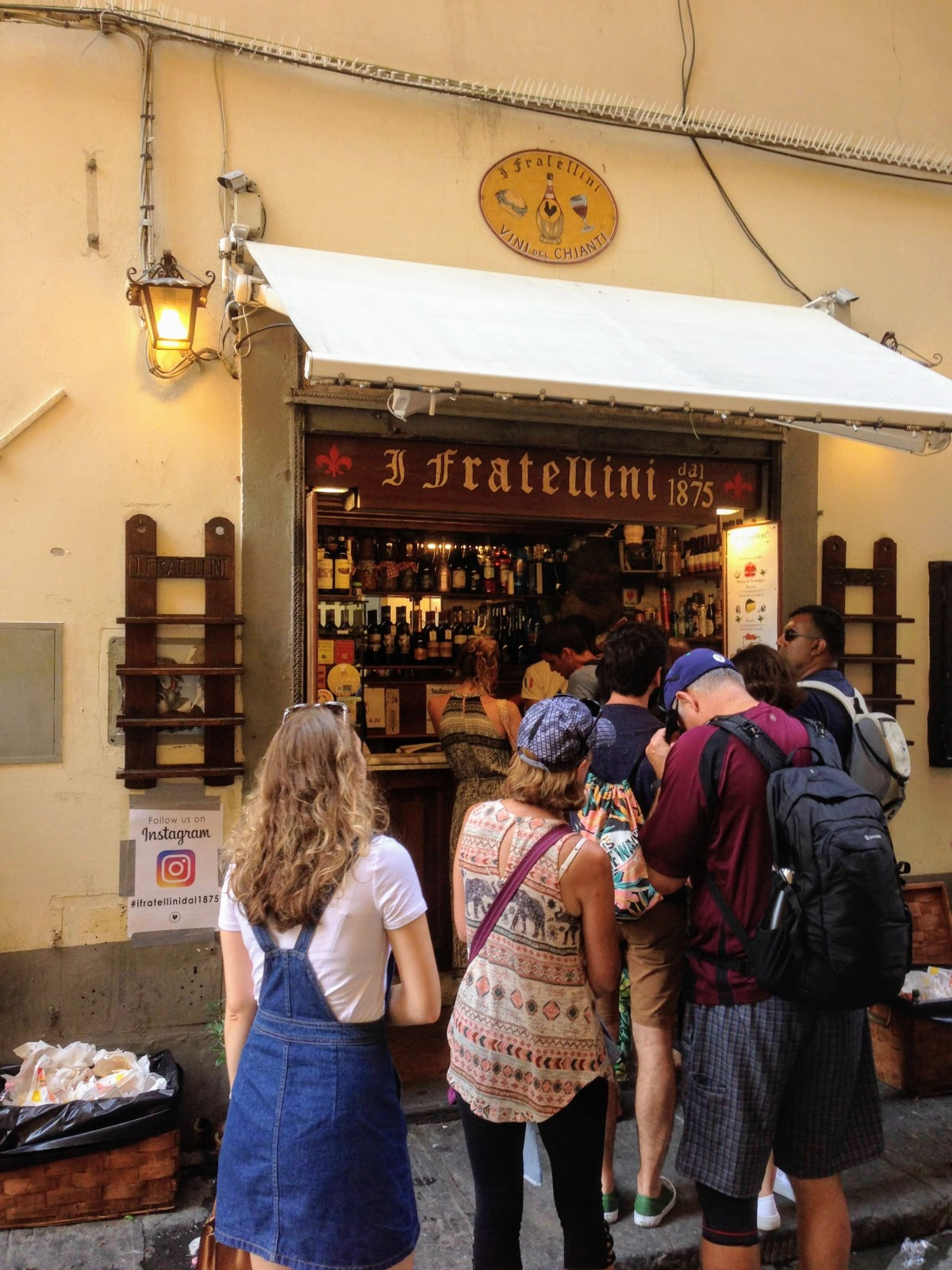 I due fratellini Florence Italy sandwich shop panini things to eat in Tuscany food guide