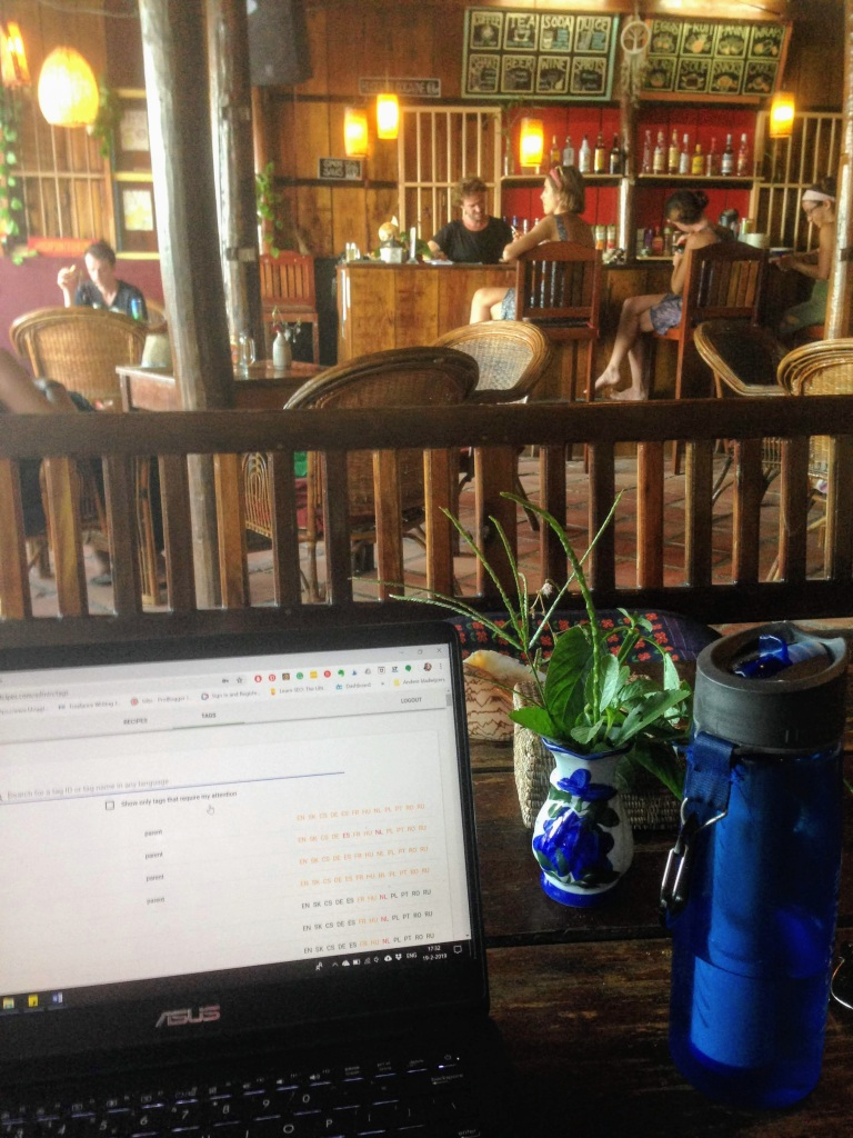 cafe Cambodia Koh Rong digital nomad remote work