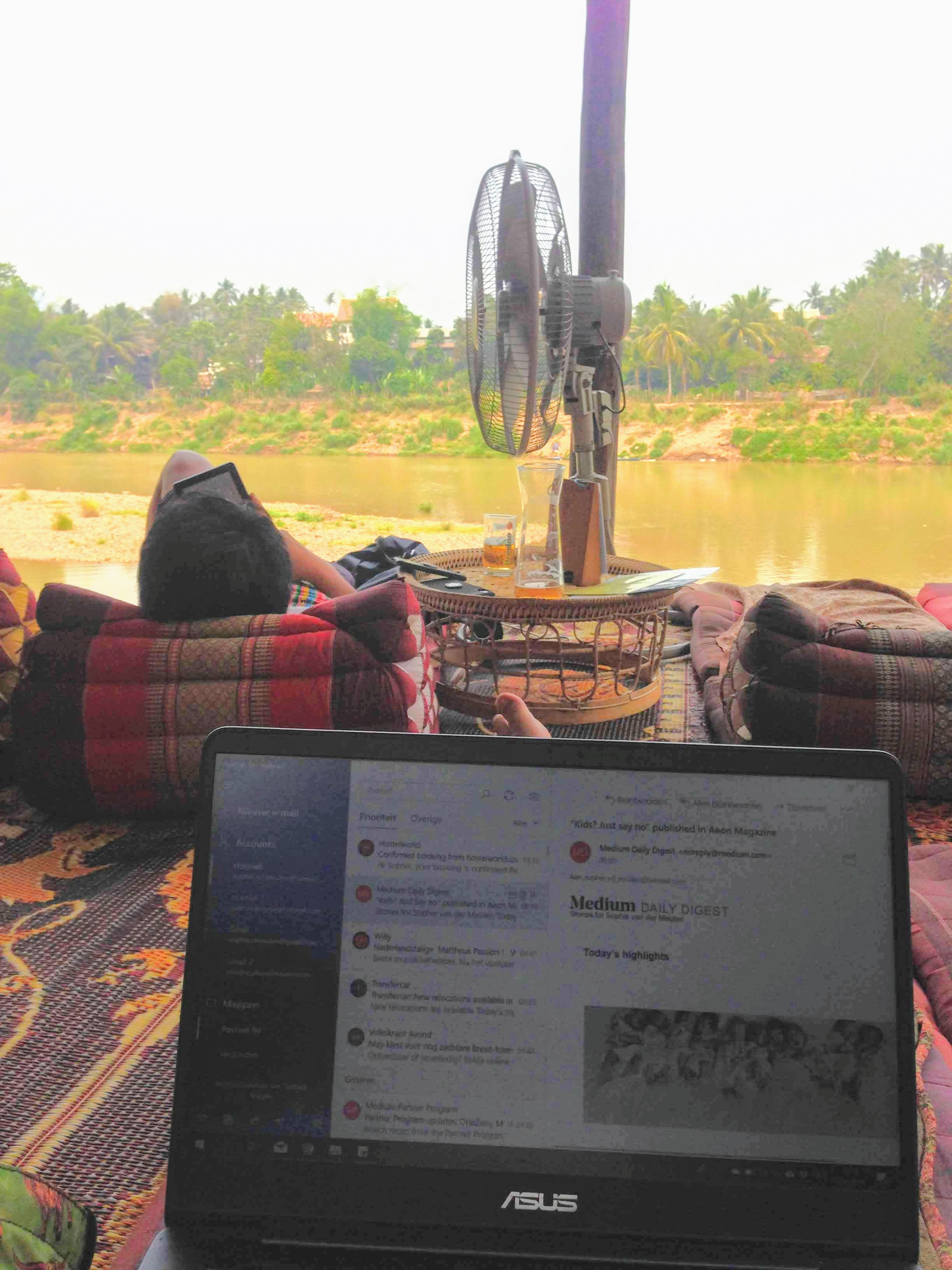 digital nomad remote work Laos Luang Prabang