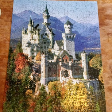 Neuschwanstein Germany castle puzzle travel from home
