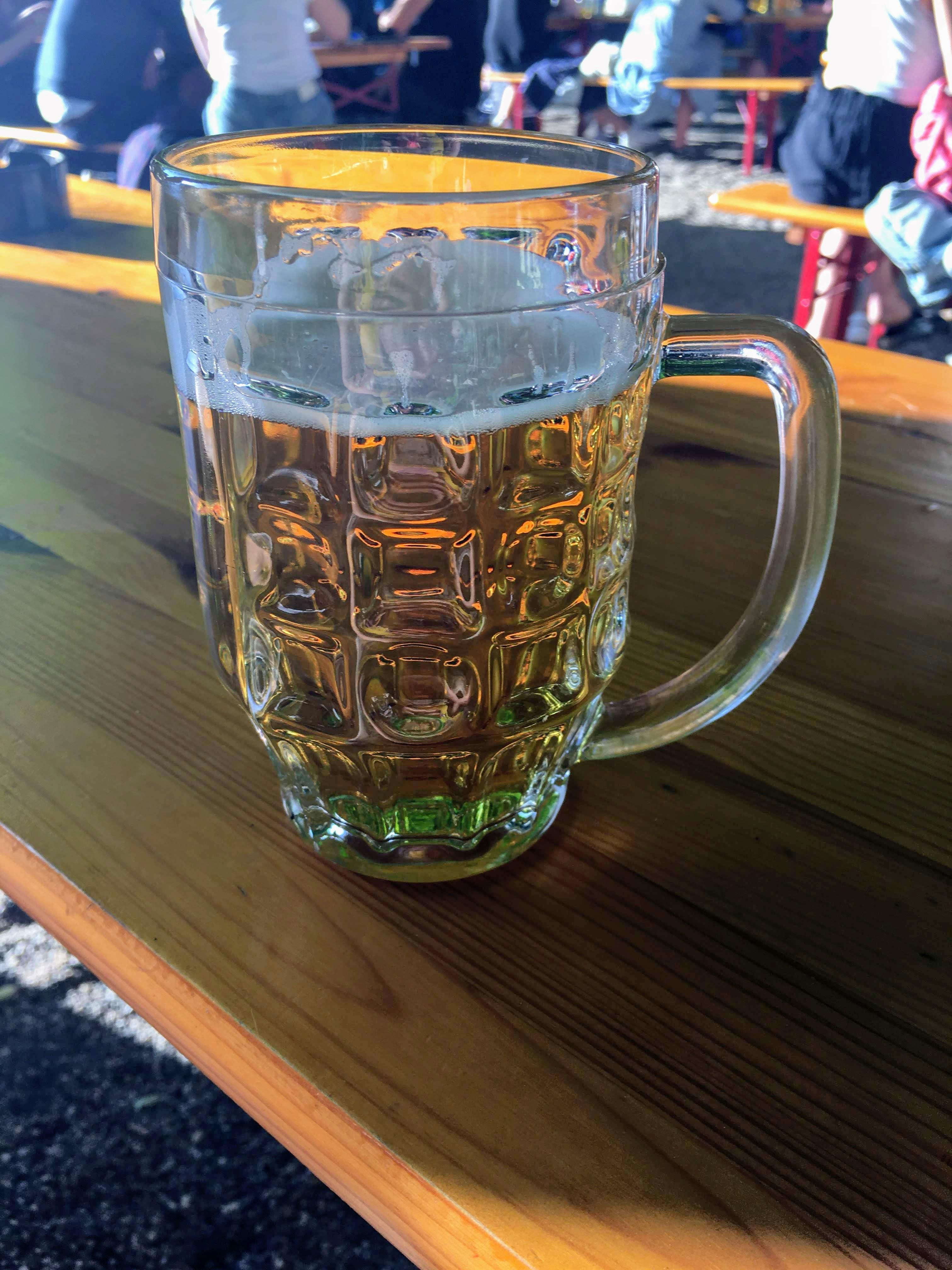 Prater Garden Berlin radler pint beer garden