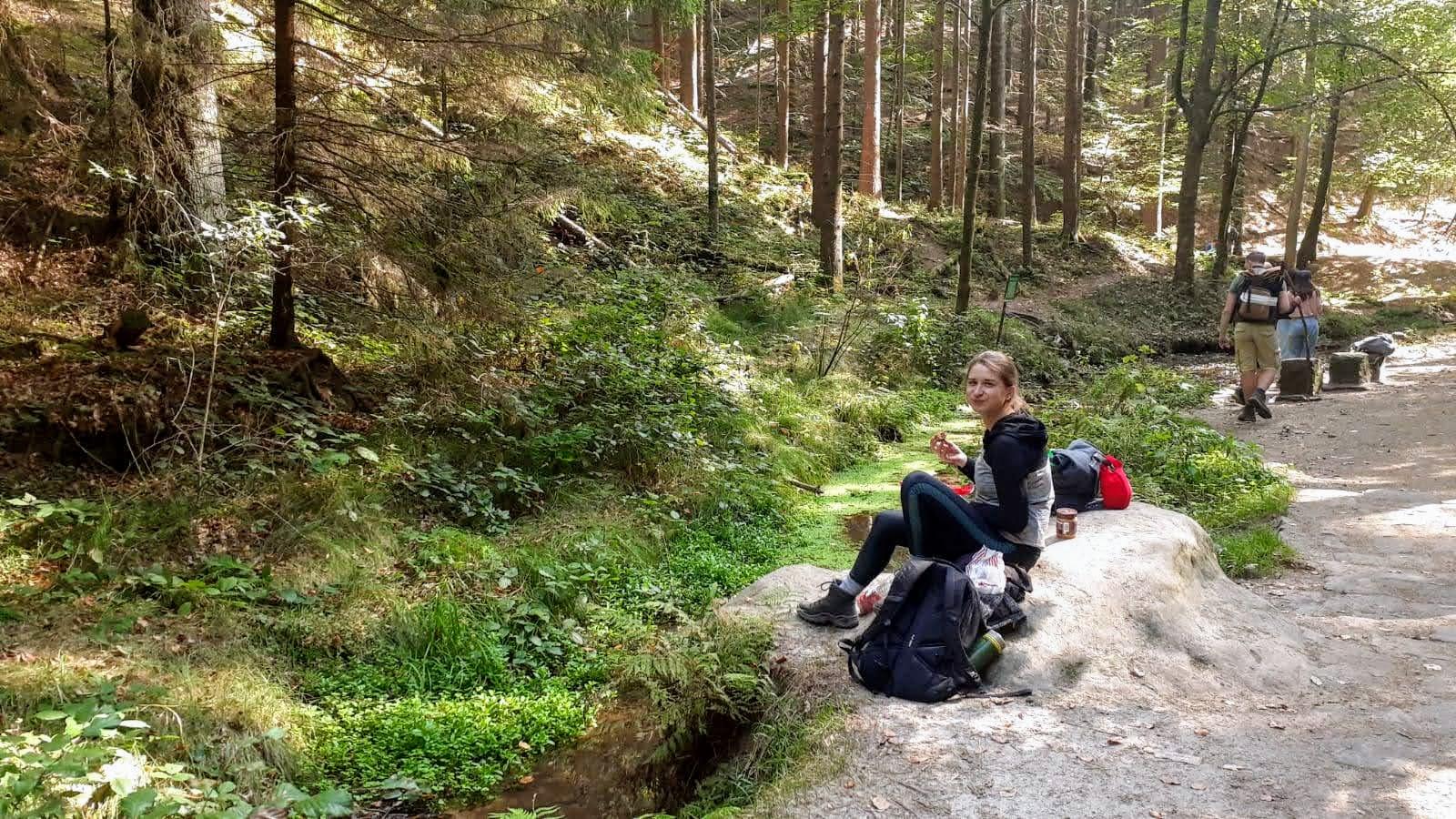 day hike Swiss Saxony hiking food water